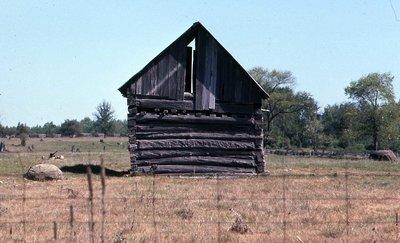 Log barn, Location unknown