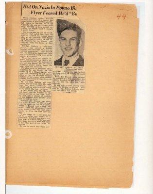 Page 43: Hid on Nazis in Potato Bin; Flyer Feared He'd Burst