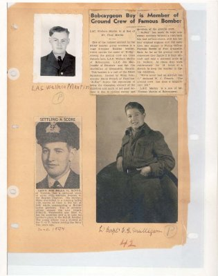 Page 45: Bobcaygeon Boy is Member of Ground Crew of Famous Bomber