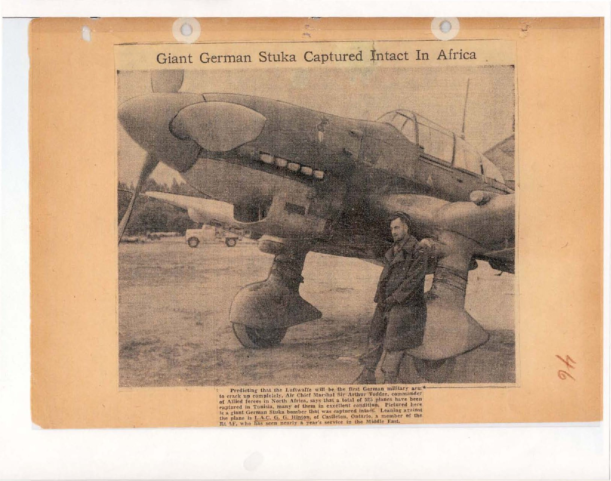 Page 56: Giant German Stuka Captured Intact in Africa