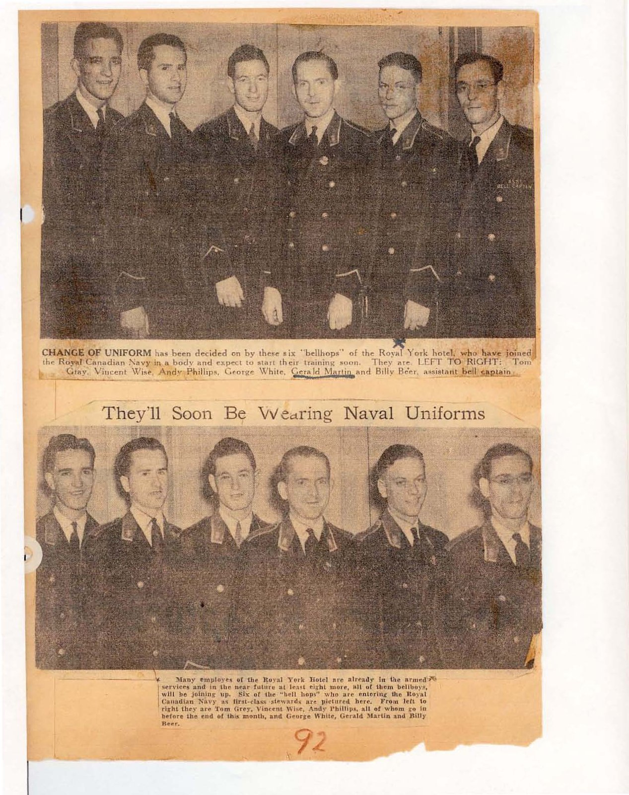 Page 81: They'll soon be wearing naval uniforms