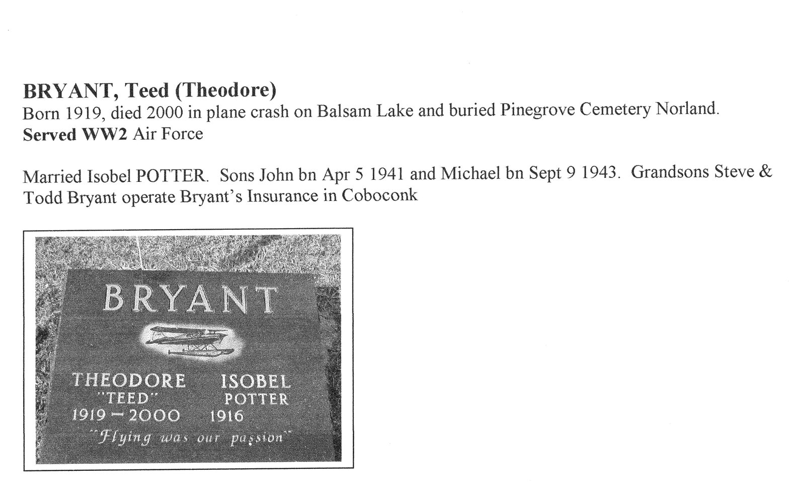 Page 157: Bryant, Teed (Theodore)