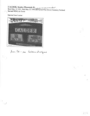 Page 159: Calder, Scotty (Warwick E.)