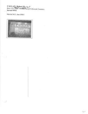 Page 161: Callan, Robert Herbert