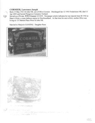 Page 185: Cormier, Lawrence Joseph