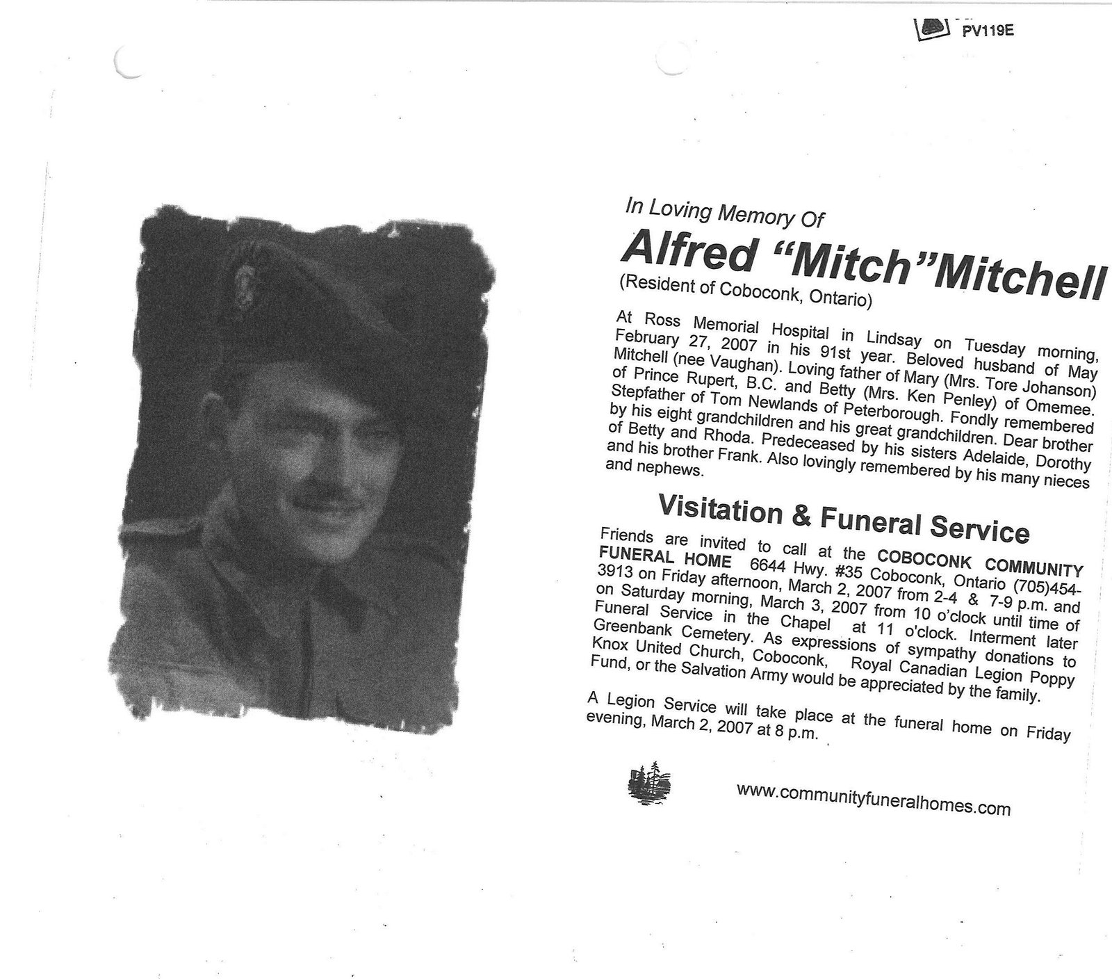 "Pages 273-274: Mitchell, Alfred ""Mitch"""