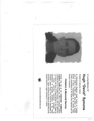 "Pages 341-342: Symons, Hugh ""David"""