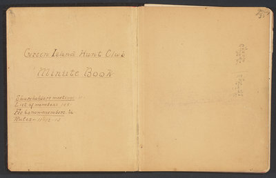 Green Island Hunt Club Minute Book, October 1909 to 1922. Beall Family Collection.