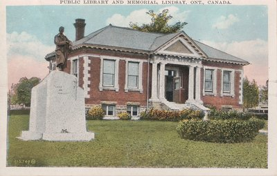 Public Library and Memorial, Lindsay, Ont., Canada