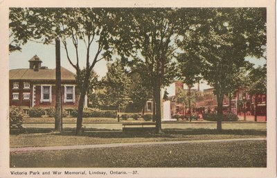 Victoria Park and War Memorial, Lindsay, Ontario
