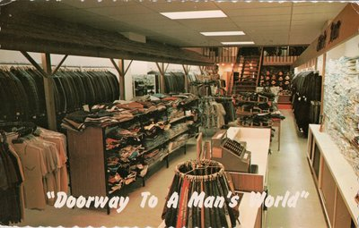 """Doorway to a Man's World"" Henry Houzer Men's Wear Anniversary Sale."