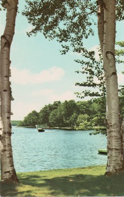Valentia, Ont. The northern entrance to Lake Scugog. Summer lake view
