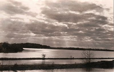 Unknown location, lake, canal.