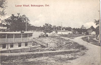 Lower Wharf, Bobcaygeon, Ont.