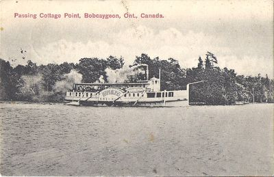 Passing Cottage Point, Bobcaygeon, Ont., Canada