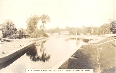 Looking East from Lock, Bobcaygeon, Ont.