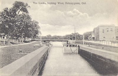 The Locks, looking West, Bobcaygeon, Ont.