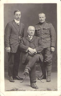 William Hamilton with son and unknown