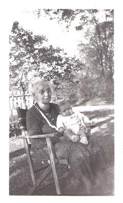 Margaret Emma Trennum Hamilton + grandson Walter