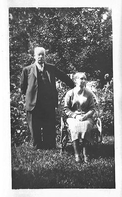 William and Margaret in garden