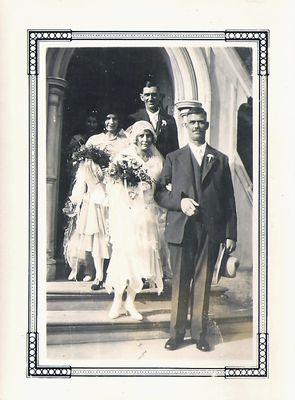 Hazel Agnes Hamilton and Robert W. Watts, wedding photograph