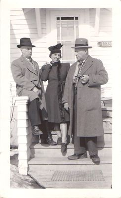 Thorne Hamilton with Bruce and Edith - Edmonton, March 1941