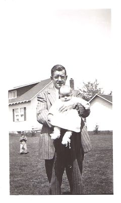 Herbert Randall with son Walter, May 1948