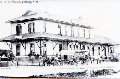 Grand Trunk Railway (G.T.R.) Station, Lindsay, Ont.