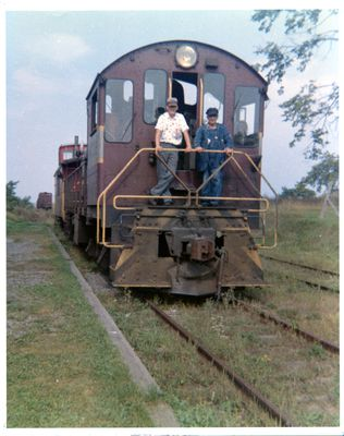 page 29 - Railroad workers on Last Train into Dunsford - 1962