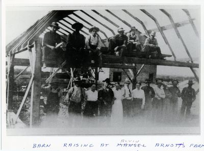 page 42 - Barn Raising at Arnott's Farm