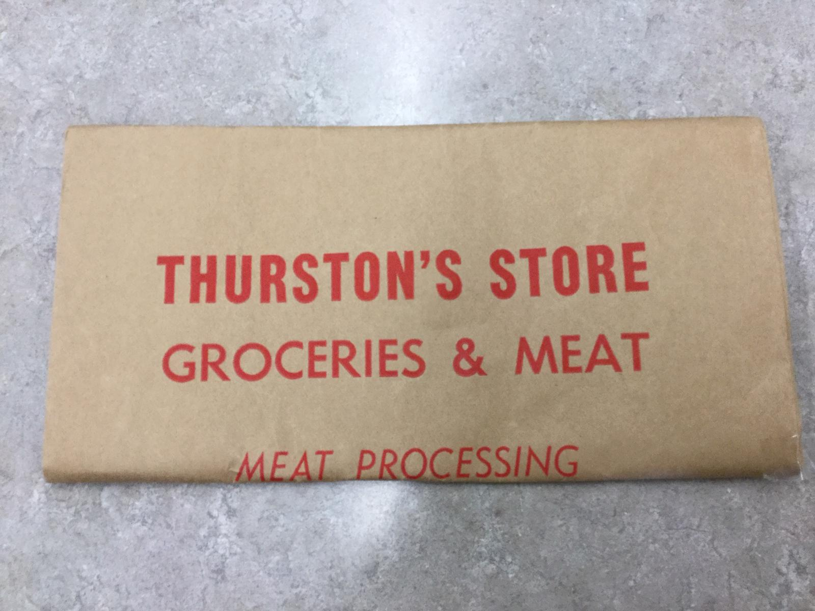 Additional materials - Thurston's Store grocery bag