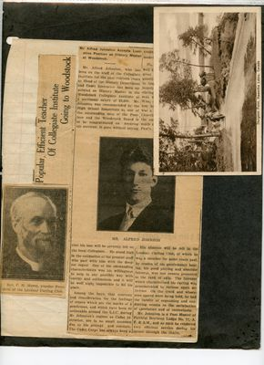 Addendum page 6 - Alfred Johnson, Rev. Marsh, and Sturgeon Point postcard
