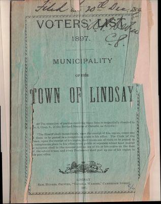 Lindsay Voters List 1897