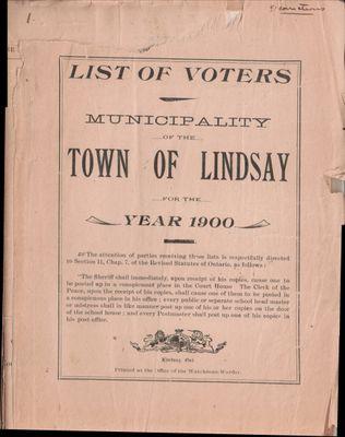 Lindsay Voters List 1900