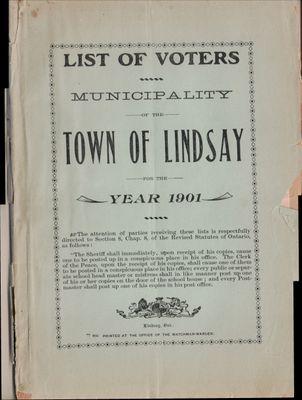 Lindsay Voters List 1901