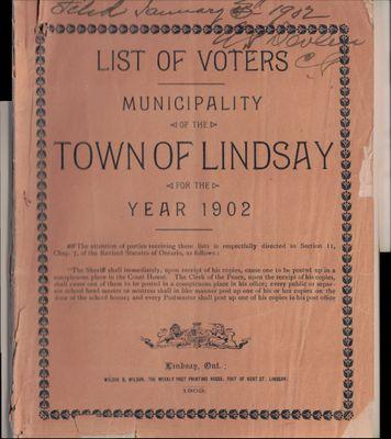 Lindsay Voters List 1902