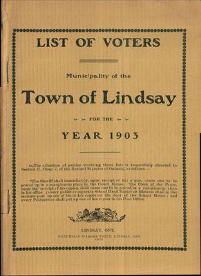 Lindsay Voters List 1903
