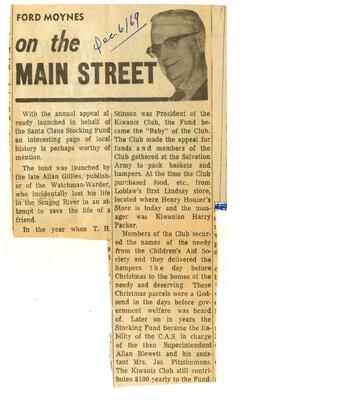 On the Main Street - 6 December 1969