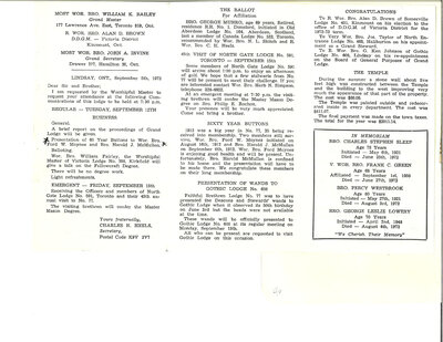 """On the Main Street"" - newsletter of Free Masons, 5 September 1972"