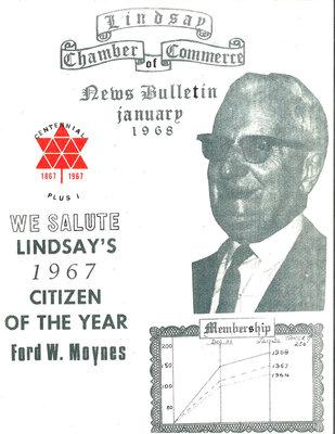 On the Main Street - January 1968 - Lindsay Chamber of Commerce news bulletin