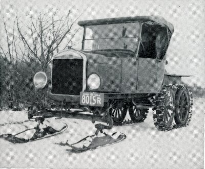Truck with Skis