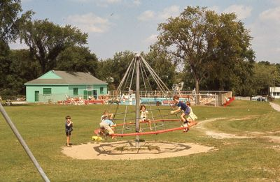 Children at Kawartha Park and outdoor pool, Lindsay