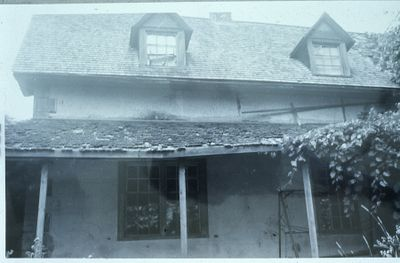 House with collapsing porch