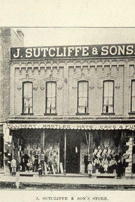 J. Sutcliffe & Son's store 1898