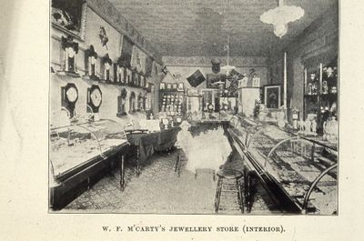 McCarty's Jewellery Store interior 1898