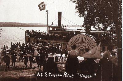 "At Sturgeon Point, Paddleboat ""Upper"""