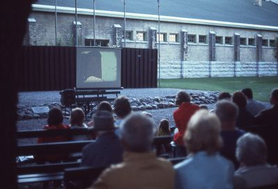 Library showing of films in Victoria Park, 1973