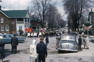 Loyal Orange Parade in Lindsay, 1961