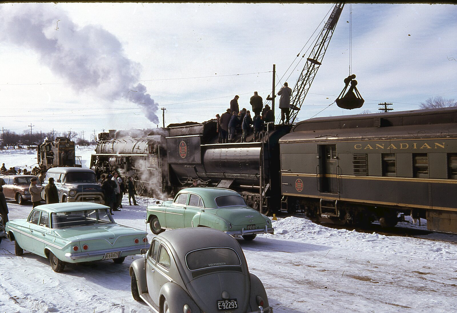 Trains in and around Lindsay, 1961