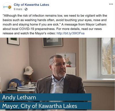 March 9: Mayor Letham assures residents about local COVID-19 preparedness